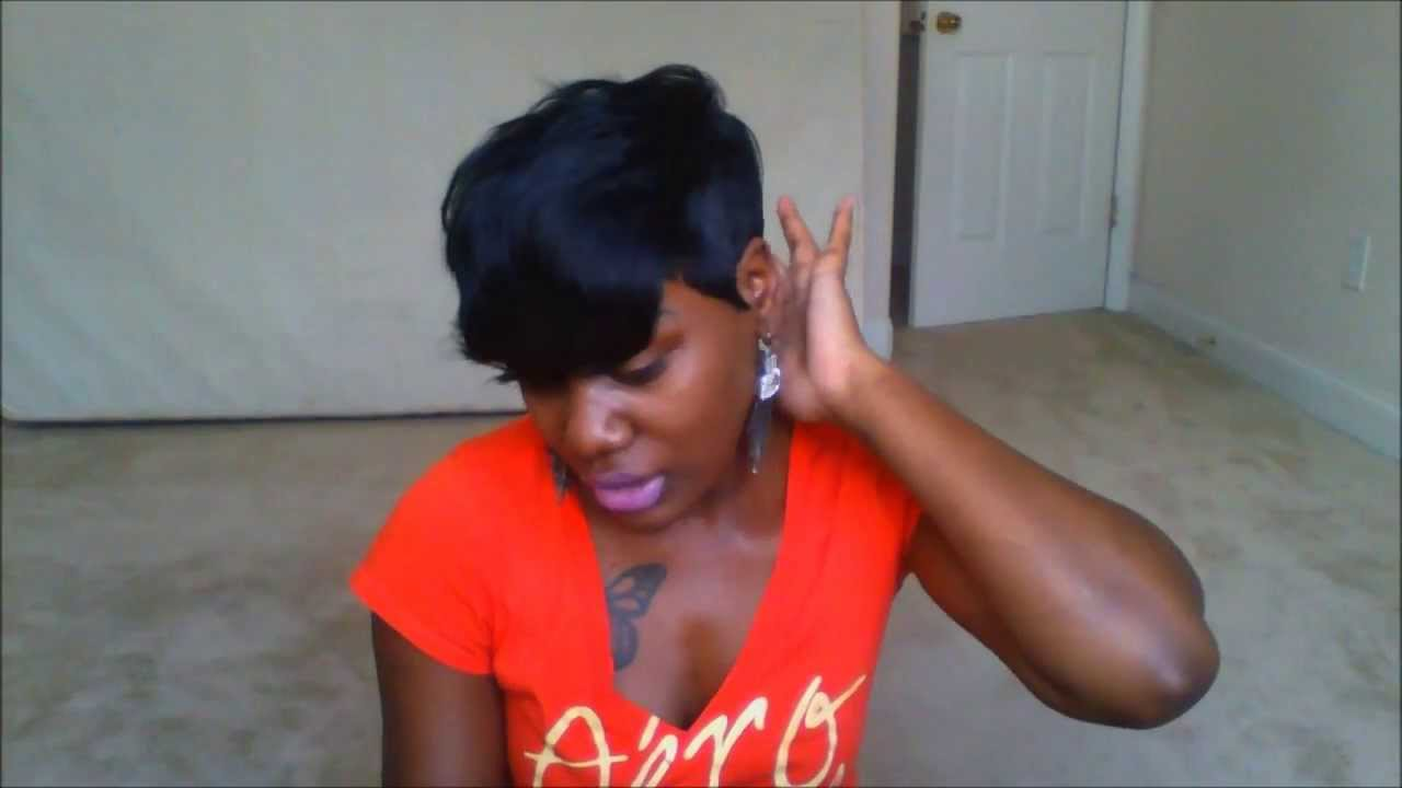 HOW TO ACHIEVE THE RIHANNA SHORT CUT! 28 PIECE QUICK WEAVE - YouTube