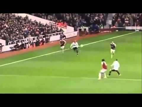 West Ham 0-2 Manchester United~Rooney Amazing 55 Yard Volley Goal~Premiere League
