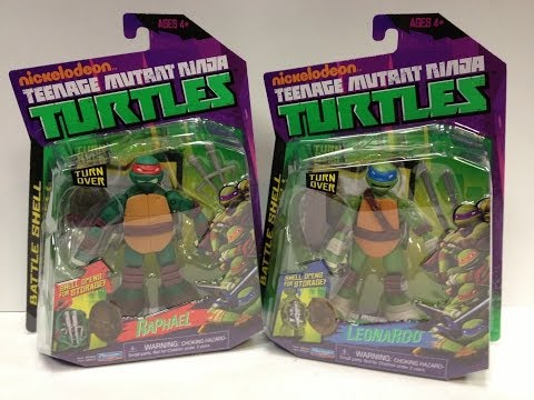 Teenage Mutant Ninja Turtles - BATTLE SHELL LEONARDO and RAPHAEL