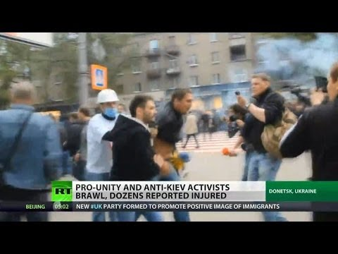 Violent clashes erupt in Donetsk, Ukraine
