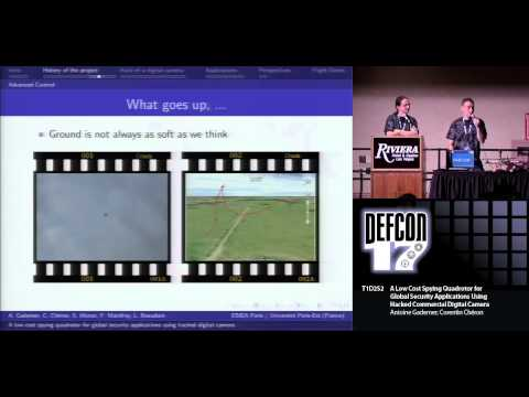 DEF CON 17 - Antione Gademer and Corentin Cheron - Low cost Spying Quadrotor