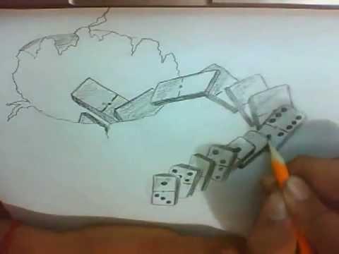 3D dibujos a lapiz faciles - Imagui