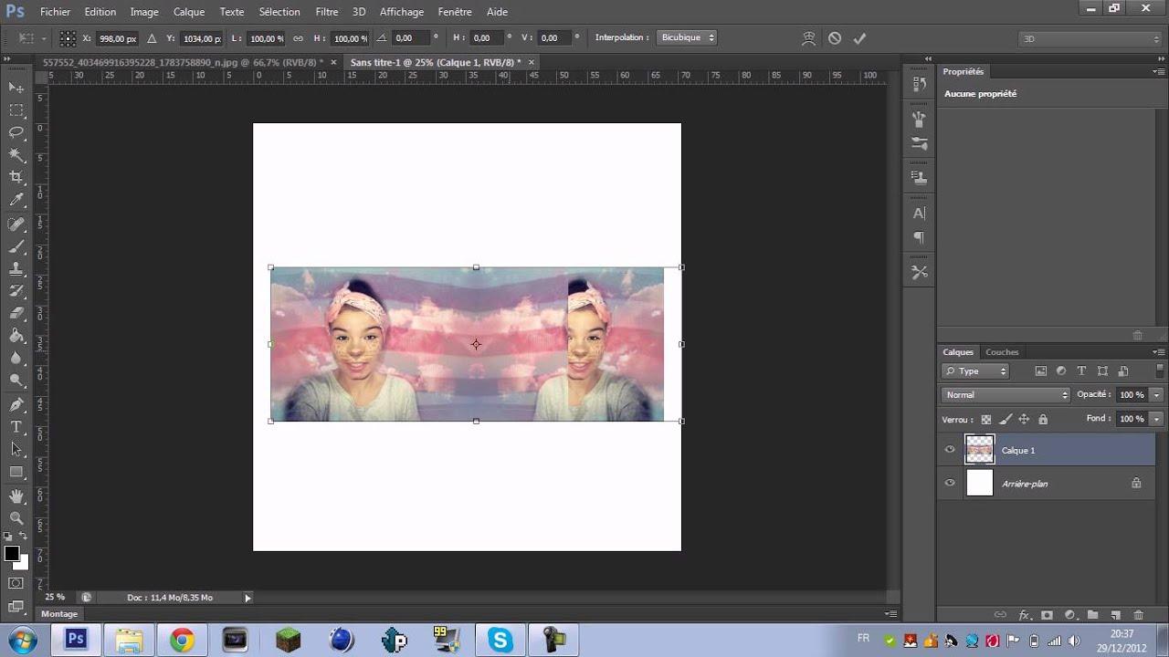 Photoshop photo manipulation youtube for Effet miroir photoshop