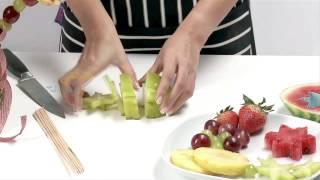 كيفية تحضير طبق فاكهة جاهز للأكل