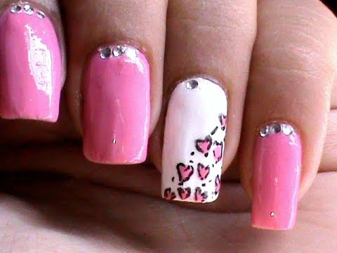 heart leopard nail art tutorial easy nail designs for