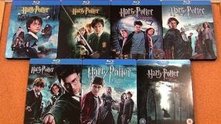 My Harry Potter blu-ray Steelbook Collection unboxing review view on youtube.com tube online.