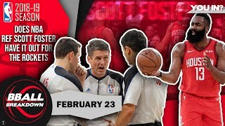 Is NBA Ref Scott Foster Biased Against The Rockets?