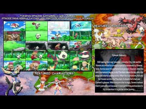 {Pokemon X and Y Episode Summary} #850: Serena Catches Her First Pokémon!? Pancham VS Fennekin!!