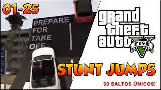 (PS3)GTA 5 COMPLETANDO 100% #1 50 STUNT JUMP 50