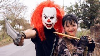 Gugu Films Nerf War : Couple Dragon Nerf Guns Fight Criminal Groups XICMAN Mask Revenge