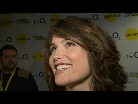 Funny: Gemma Arterton swears, laughs and interrupts other interview