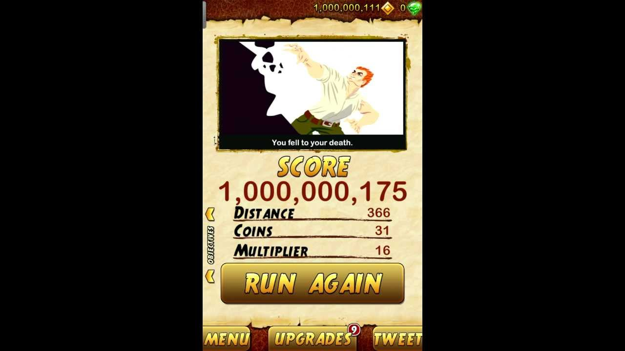 High Score Temple Run 2