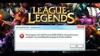 Cómo Solucionar El Error D3dx9_39.dll Al Ejecutar LOL