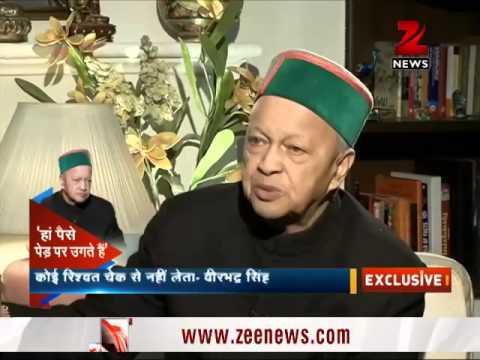 Himachal Pradesh CM Virbhadra Singh in an exclusive interview with Zee Media