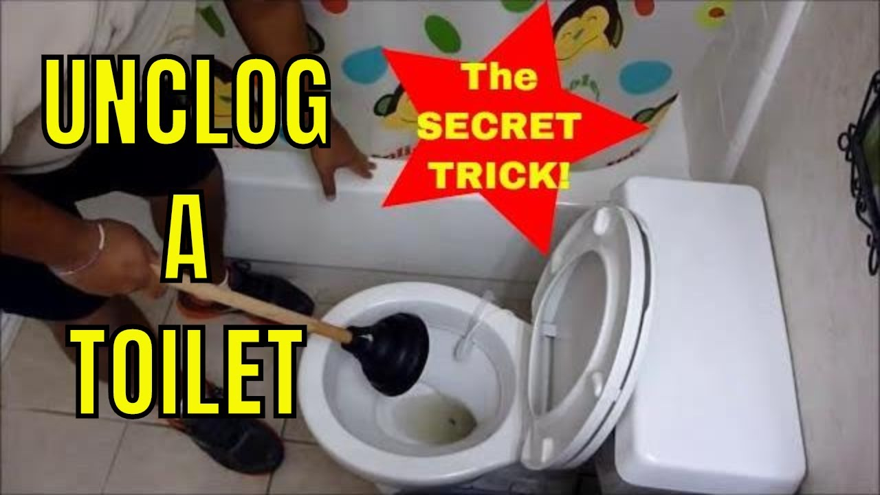 how to unclog a toilet with a plunger like a champ youtube. Black Bedroom Furniture Sets. Home Design Ideas