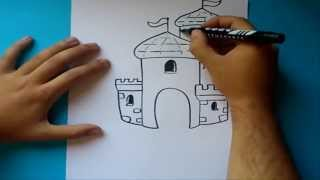 Como Dibujar Un Castillo Paso A Paso 2 How To Draw A