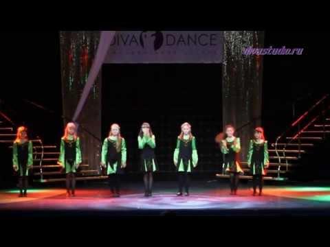 """Видео """"Детский отчетный концерт в Гигант-холле 02.06.13 года"""". Коллектив «Кристалл» - «Ирландские мотивы»."""