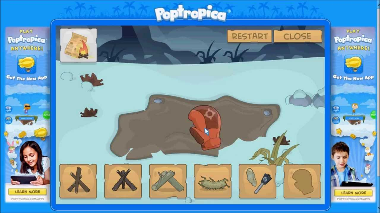 How to complete poptropica survival island 4