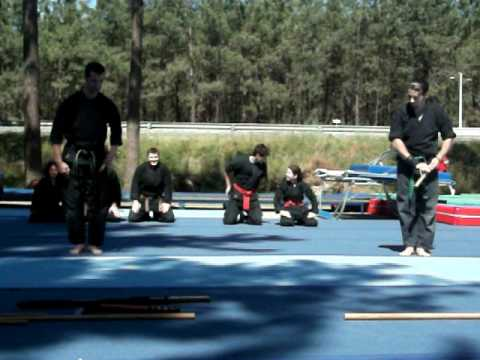 Amazing ninjutsu demonstration in Portugal