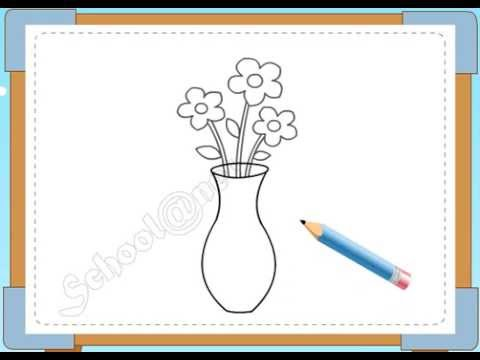 BÉ HỌA SĨ - Thực hành tập vẽ 75: Vẽ lọ hoa