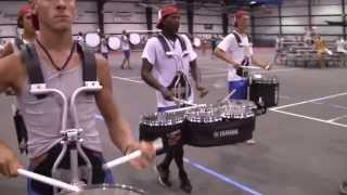 Bluecoats 2013 On Field Battery Cam - Semifinals Runthrough
