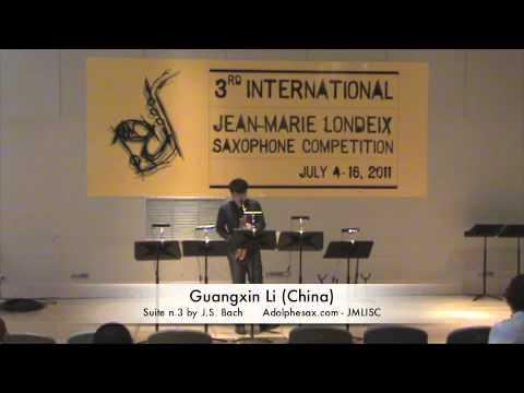 3rd JMLISC: Guangxin Li (China) Suite n.3 by J.S. Bach