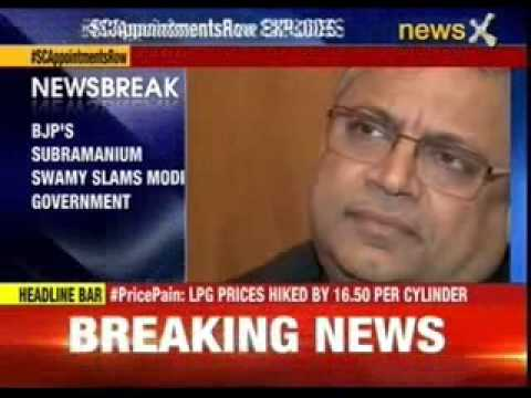 BJP's Subramanium Swamy slams Modi government
