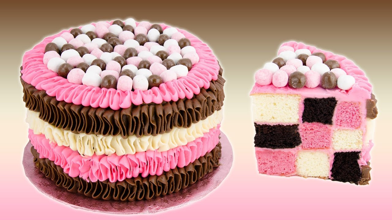 Checkerboard Neapolitan Cake Recipe From Cookies Cupcakes