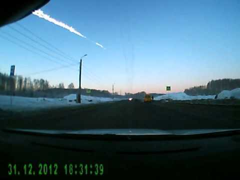 Camcorder Footage of the Meteor In Russia