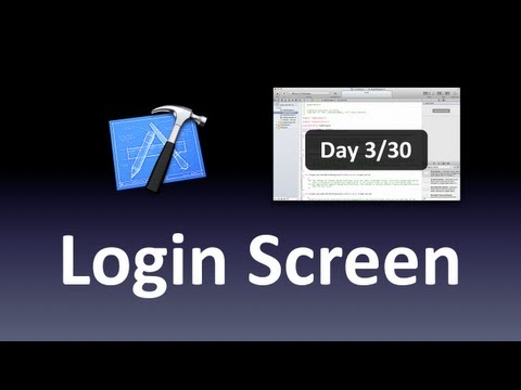 [Xcode] Login Screen