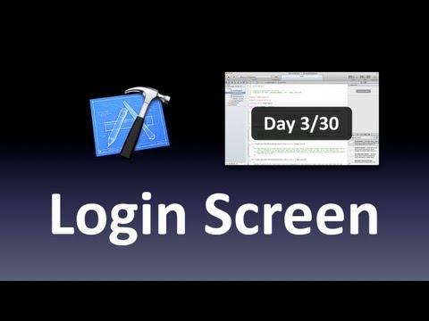 [Xcode] Login Screen