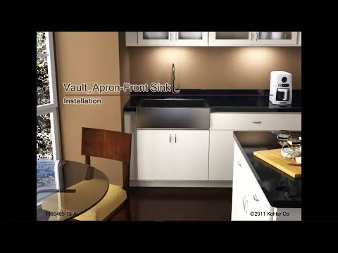 Installing A Farmhouse Apron Front Sink : ... -- Vault Apron Front Stainless Steel Sink Installation - YouTube