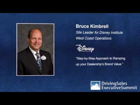 Bruce Kimbrell; Disney Institute To Keynote DrivingSales Executive Summit 2013