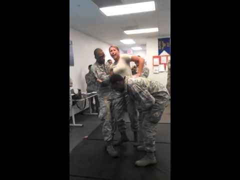 US Air Force Girl gets Tazed and has Wandering Hands   theync com