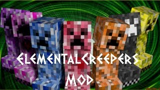 Minecraft Elemental Creepers Mod-1.6.4