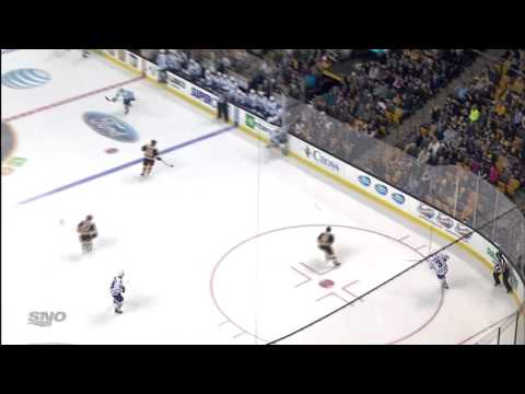 van Riemsdyk Goal - Leafs 4 vs Bruins 2 - Jan 14th 2014 (HD)