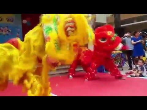 lion dance mid autumn mua lan trung thu
