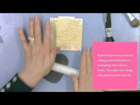 Katy Sue Leopard Print design mat silicone sugarcraft mould