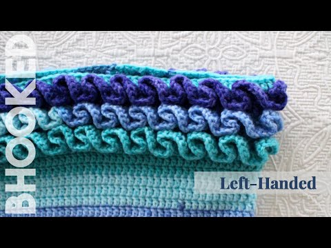 How to Crochet Ruffles Left Handed