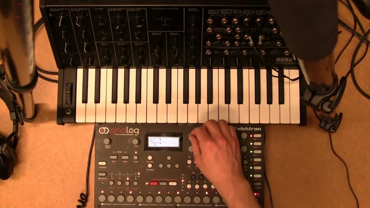 korg ms20 mini processed and cv sequenced by elektron