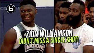 Zion Williamson Didn't Miss a Shot In Front of James Harden! Adidas Nations Raw Highlights