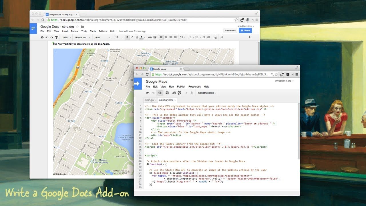Tutorial - Create Add-ons for Google Docs