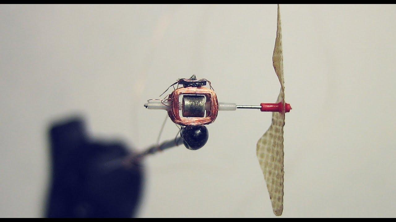 Бесколлекторный микромотор своими руками