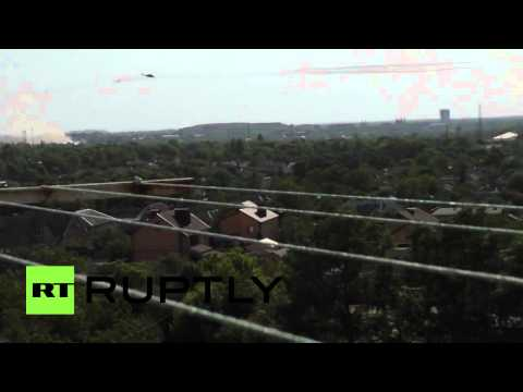 Video: Ukrainian military helicopters fire missiles on Donetsk intl airport