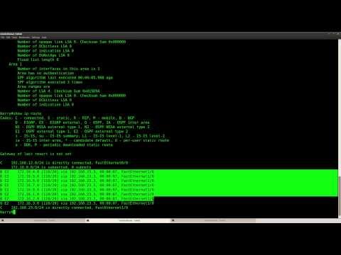 OSPF LSA Type 5 Summarization lab in GNS3