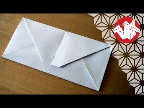 Origami - Lettre-enveloppe
