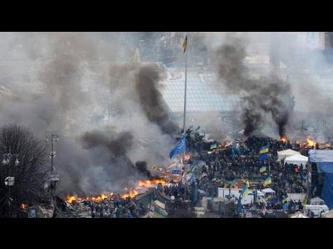 Molotov Cocktails Vs Water Cannon In Deadly Kiev Protests