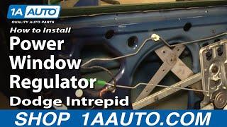 How To Install Repair Replace Rear Power Window Regulator