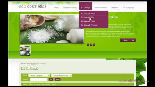 Joomla 1.5 template:JM-Eco-Cosmetics view on youtube.com tube online.