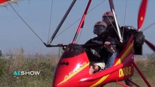 Provocare AISHOW: Mihaela Sîrbu zboară cu deltaplanul